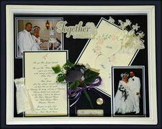 Put our Wedding memories in a shadow box....wonderful for hanging on the wall to share.