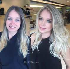 Hair Blonde Ombre, Ash Blonde, Blonde Hair, Beauty Makeup, Hair Beauty, Natural Hair Styles, Long Hair Styles, Balayage Highlights, Hair Colours