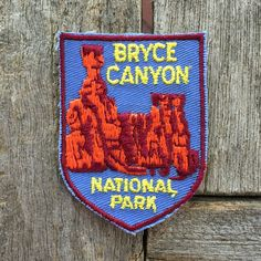 Bryce Canyon National Park Vintage Souvenir Travel Patch from Voyager - LAST ONE! by HeydayRoadTrip on Etsy