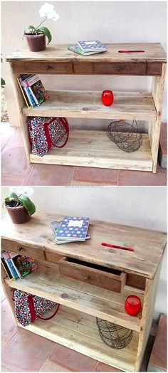 wooden pallets entryway table