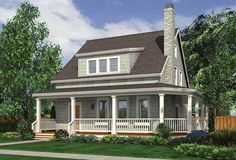 Cottage floor plans selected nearly ready-made house plans by leading architects and house plan designers. Cottage house plans can be customized for you. Cottage Style House Plans, Cottage House Plans, Country House Plans, Small House Plans, Cottage Homes, Country Farmhouse, Modern Farmhouse, Small Country Houses, Country Life