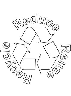 Free Printable Logos Recycling Symbol Outline clip art