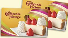 The Cheesecake Factory Gift Cards donations