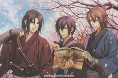 Hijikata Toshizo, Saito Hajime and Okita Soji