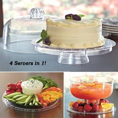 4-in-1 Acrylic Server in  from Fresh Finds on shop.CatalogSpree.com, your personal digital mall.