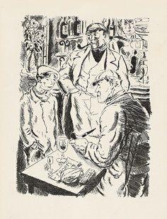 Gus Bofa - Le salon de l'araignée, illustrator - André Dignimont