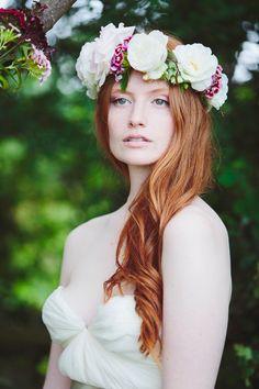 Floral crown w/ long hair, Kirsten Mavric