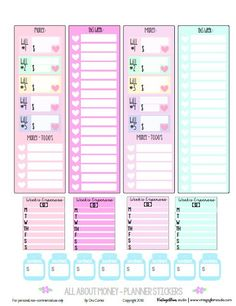 All About Money Planner Stickers - Free Printable - Vintage Glam Studio