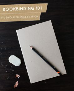 The start of our mini series on bookbinding: Five-hole pamphlet stitch. Perfect for a scrapbook or photo album!