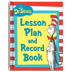 Dr. Seuss Cat in the Hat Lesson Plan Record Book