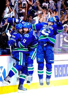 Post game 1 Stanley Cup Final game winning goal celebration 3389a7daf