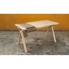 Wewood Bolsa Leather and Oak Desk / Workspace