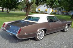 Notice the revised taillight assemblies and side marker light on the rear fender. To improve on the weak stopping ability, front disc brakes were added this year. New this year was a / liter engine Cadillac Eldorado, Cadillac Ats, Chevy, Chevrolet, Cool Rvs, American Motors, Us Cars, Retro Cars, Buick