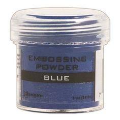 Ranger Opaque/Shiny Embossing Powders: Blue