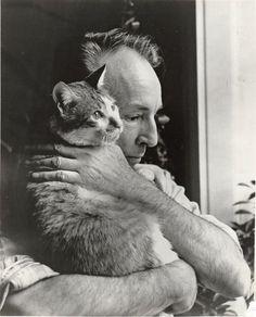 Джордж Баланчин и его кошка Мурка