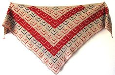This is a beautiful shawl made of mitered squares. The shawl is easy to make and the project can be a stash buster, if you want. Although I have made it in fingering weight yarn, you can use any weight of yarn you like and get a different size and feel.