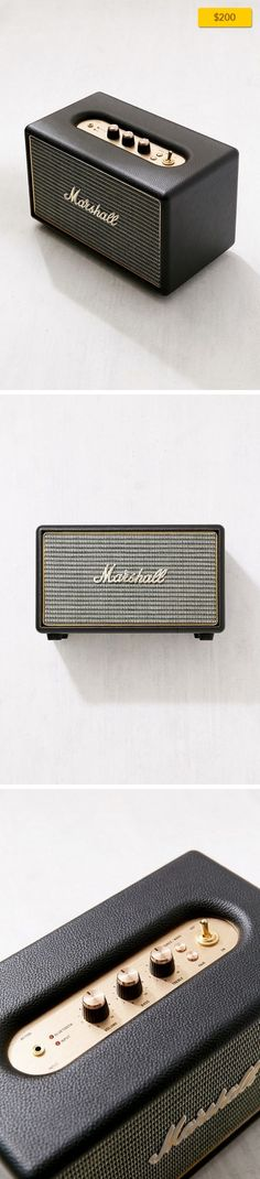 Marshall Acton Wireless Speaker Sale, Apartment Sale, Music + Tech   Marshall's super-compact Acton Wireless Speaker yields well-balanced sound even at high levels and bass so deep, it seems to defy the laws of nature for its itty-bitty size! With the best of modern abilities packed into a classically designed frame with vintage-look frets, polished gold hardware + the iconic Marshall script logo ...