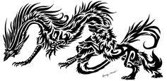 Dragon&Wolf <3