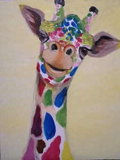 Step by step to your own Masterpiece with Paint Along Paint Party, Corporate Events, Giraffe, Entertaining, Creative, Artist, Fun, Painting, Animals