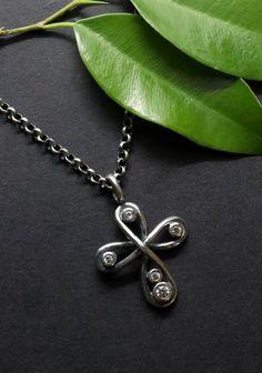 Pendant Necklace, Jewelry, Rhinestones, Crosses, Silver, Women's, Jewlery, Jewerly, Schmuck