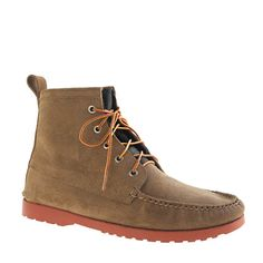 Quoddy® for J.Crew suede boots with Vibram sole