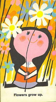 cute 60's illustration.