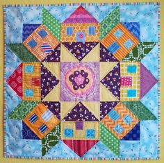ooh, this would be cute as narrow houses as in Amsterdam, with water in the middle. just Quilts: Swoon Village finished Patchwork Quilt, Star Quilts, Mini Quilts, House Quilt Block, Quilt Blocks, Quilting Projects, Quilting Designs, Quilt Modernen, Miniature Quilts
