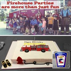Celebrating a Birthday Party at the Porter Fire Department   This past weekend Mr J was a guest at his friend's birthday party. It was held just north of Houston at the Porter Fire Department. A Bit about Porter Fire Department  Located just outside