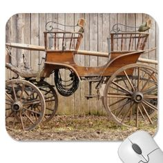 Horse Drawn Carriage Coach Surrey Gifts Mouse Pads
