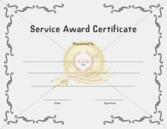 16 best Award Certificates images on Pinterest | Certificate ...