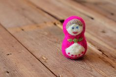 This takes felting to a new level -- a matryoshka doll.  A.D.O.R.A.B.L.E.
