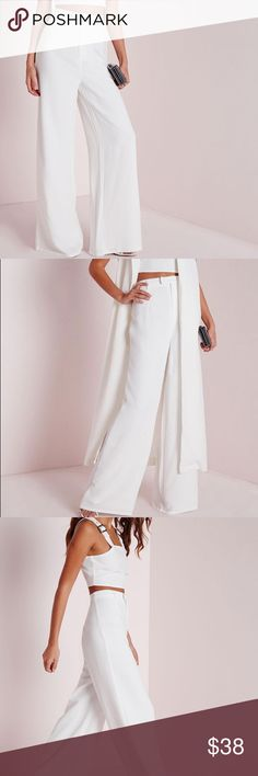 Missguided Tall Crepe Wide leg Pants Beautiful pants for work or for dinner outing. Missguided Pants Wide Leg