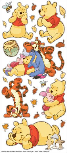 Ek Disney Pooh and Friends Large Flat Stickers by ScrapbookSource