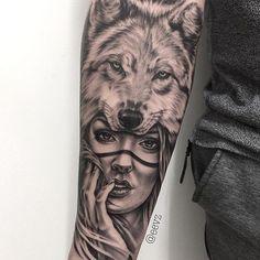 Tattoo done by artist @eevz  #blackandgrey #inksav