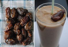 dates and shake side by side
