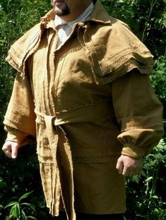 Hunting Frock Coat / Rifleman's / Frontier / by StarReenactment Mexican Army, Mexican American War, American History, 18th Century Dress, 18th Century Fashion, 19th Century, Mountain Man Clothing, Frock Patterns, Longhunter