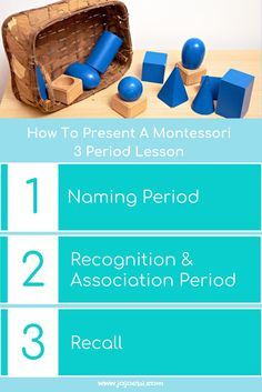 How to present a Montessori 3 period lesson - this can be used for introducing no end of new things to the child, works especially well with vocabulary. | montessori | 3 period lesson | naming the objects | montessori lesson | Montessori presentation | homeschool |