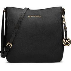 MICHAEL Michael Kors Large Jet Set Travel Messenger Bag ($228) ❤ liked on Polyvore