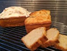 My husband is a HUGE fan of the lemon pound cake from Starbucks, so last Christmas, I finally decided to give this one a try. Well, when Hubby likes it – you know you've got a keeper! Mini Loaf Pan, Icing Ingredients, Vanilla Yogurt, Pound Cake, Yummy Cakes, Cooking Time, Baking Soda, Super Easy, Banana Bread