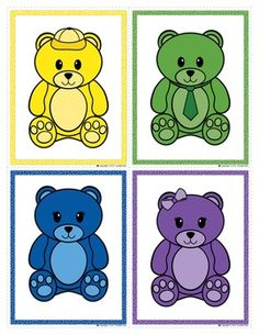 Color Matching Bears: Bear Color Match Clip Cards for Pre
