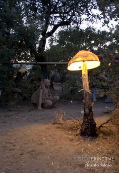 Trance, Garden Whimsy, Garden Art, Psychedelic Decor, Mushroom Decor, Open Air, Psy Art, Happy Hippie, Installation Art