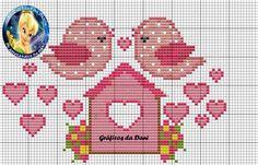 Her daim muhabbetiniz bol olsu Cross Stitch Heart, Simple Cross Stitch, Cross Stitch Animals, Cross Stitching, Cross Stitch Embroidery, Embroidery Patterns, Cross Stitch Designs, Cross Stitch Patterns, Plastic Canvas Patterns