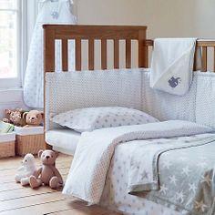 My baby ideas: Feeding & Caring. John Lewis grey star bedding range #johnlewis #baby