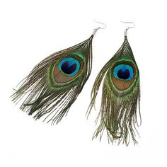 Peacock Feather #Earrings      #accessories http://to.faearch.me/1IBM6du