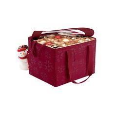 Christmas Tree Storage Holiday Box Tote Compartment Lid Red Seasonal Organizer | Pinterest | Christmas tree storage Christmas tree and Storage  sc 1 st  Pinterest & Christmas Tree Storage Holiday Box Tote Compartment Lid Red Seasonal ...