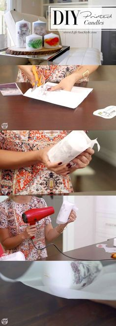 DIY Super Easy Print on Candles! Great gift idea and totally…