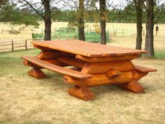 Chunky Log Picnic Table Need To Know Bases Pinterest Picnic - Timber picnic table