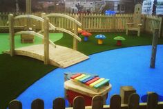 Our specially designed artificial grass for play areas is ultra strong,