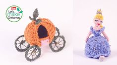 "Cinderella Doll and Pumpkin Carriage form the book ""Fairytale Crochet by Louise Tyler"" - Free Amigurumi Pattern here: http://www.yours.co.uk/2014/12/crochet-cinderella-and-pumpkin-carriage"