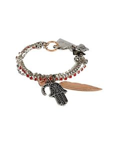 https://www.cityblis.com/10437/item/14426 | Art. HYP008_Mystic Bracelet - $91 by Maiden-Art Boutique | Bracelet made with oxydized brass, rose gold brass, crystals and charms. Hand varnished, hypoallergenic and hand made in Italy.  Bracciale realizzato in bronzo ossidato, bronzo bagnato nell'oro rosa, cristalli e pendenti. Realizzato a mano in Italia e nickel free. | #Bracelets